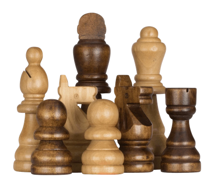 Giant rubber tree chess set