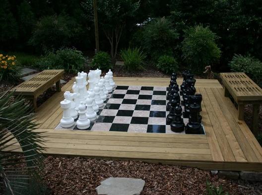 "25"" Plastic Giant Chess Set"
