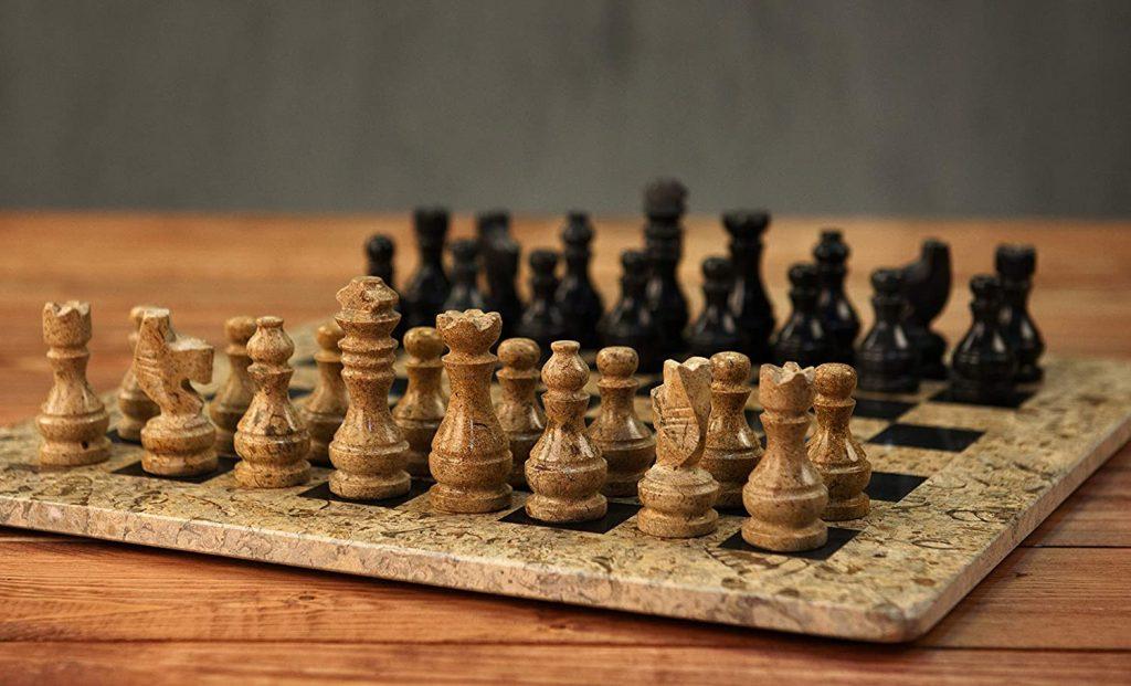 Black Marble Chessmen