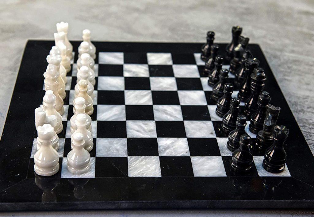 Black Marble Stone Chessmen