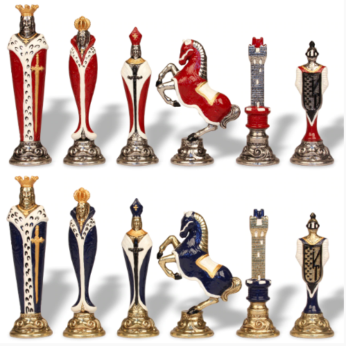 Painted Metal Chess Set