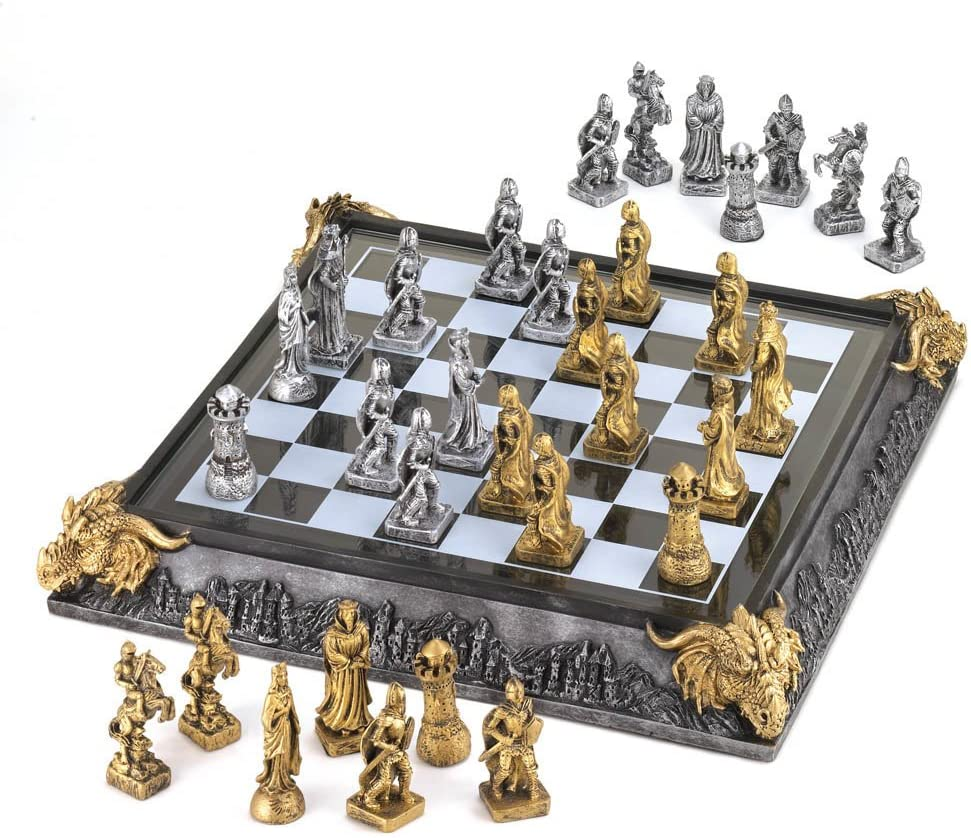 Medieval Knights Chess Game Set