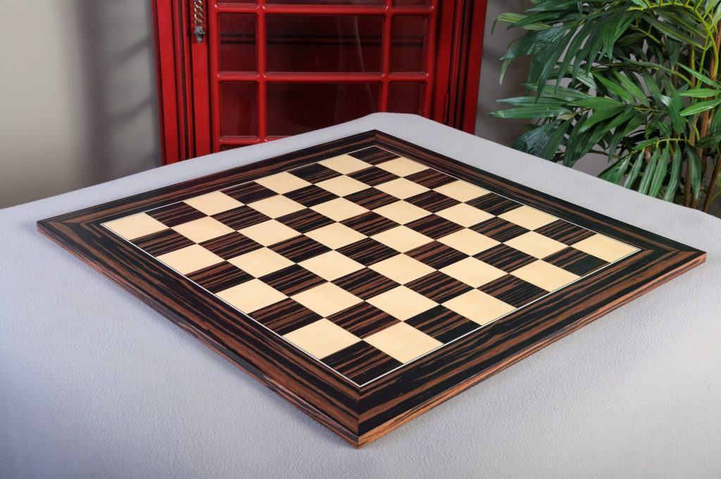 Macassar Ebony & Maple Standard Traditional Chess Board