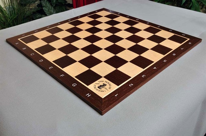 African Palisander and Maple Wooden Tournament Chess Board