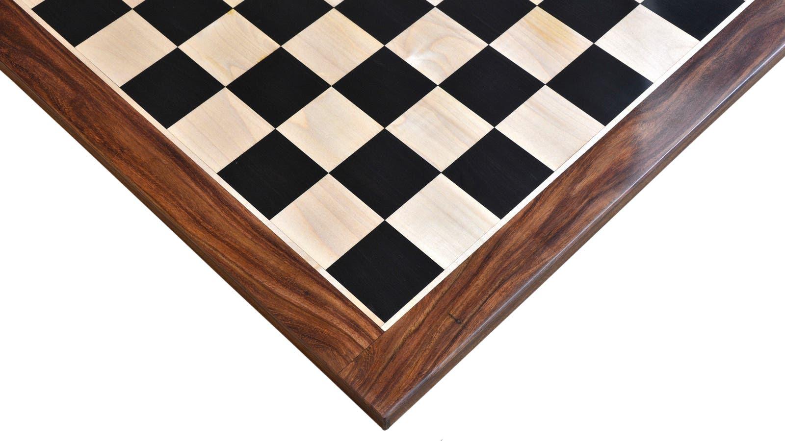 Ebony sheesham chess board