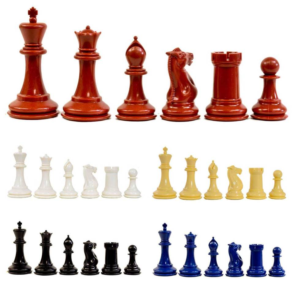 Traditional Staunton Chess Pieces with Drawstring Bag