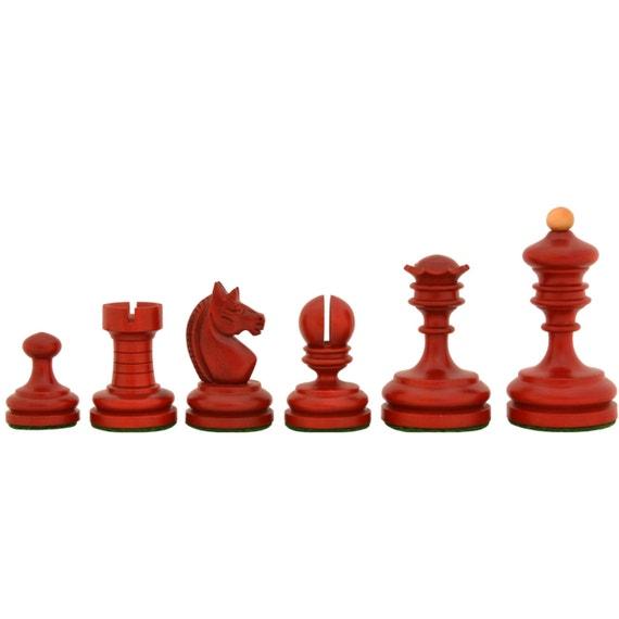 1930 German Knubbel Analysis Chess Pieces