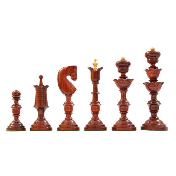 Reproduced Antique Biedermeier Series Wooden Chess Pieces