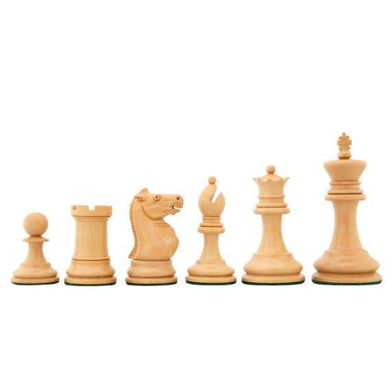 Reproduced 1875-80 Vintage Zukertort Staunton Weighted Chessmen
