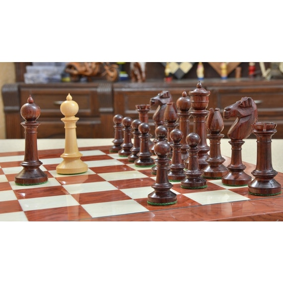 Exclusive Repro Old Antique Edinburgh Upright Chess Pieces